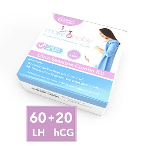 60 Ovulation Test Strips + 20 Pregnancy Test Strips